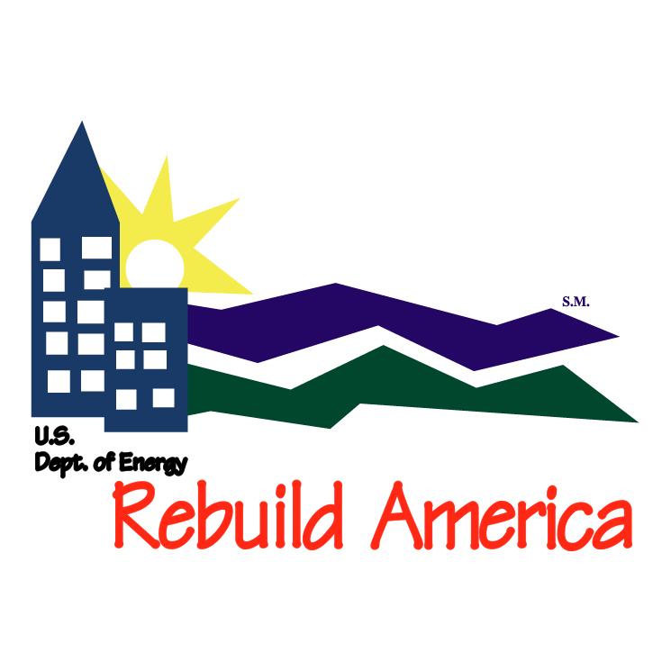 free vector Rebuild america