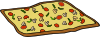 free vector Rectangular Veggie Pizza clip art