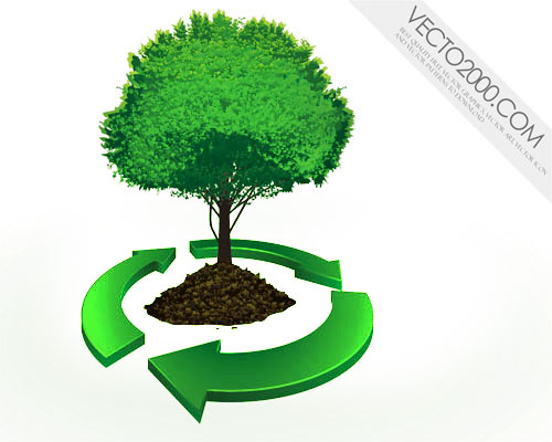 free vector Recycle concept