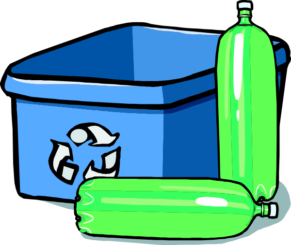 free vector Recycling Bin And Bottles clip art