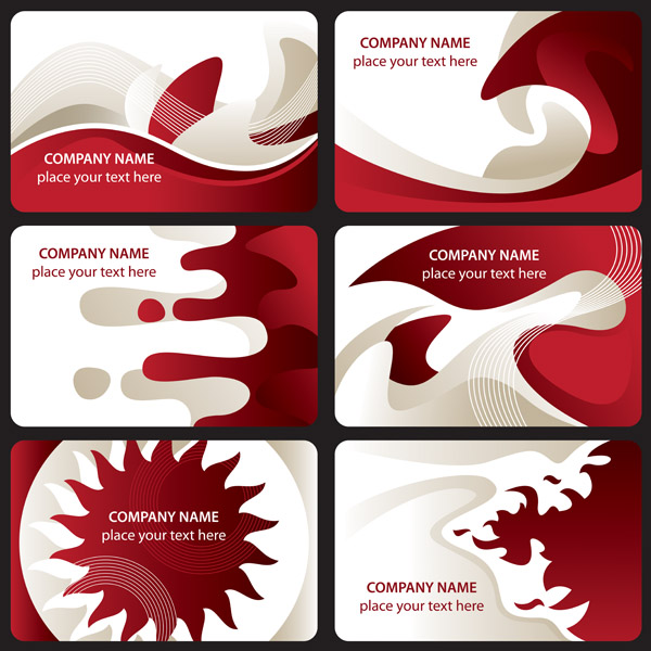 free vector Red and white card background vector