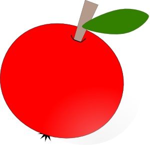free vector Red Apple clip art