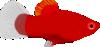 free vector Red Aquarium Fish clip art