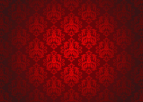 free vector Red background pattern vector 3