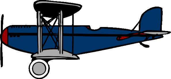 free vector Red Blue Biplane clip art