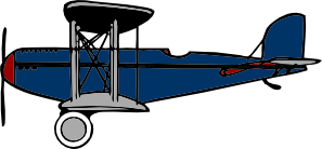 free vector Red Blue Biplane clip art