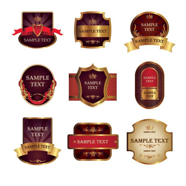 Red bottle label vector Free Vector / 4Vector