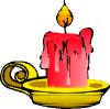 free vector Red Candle clip art