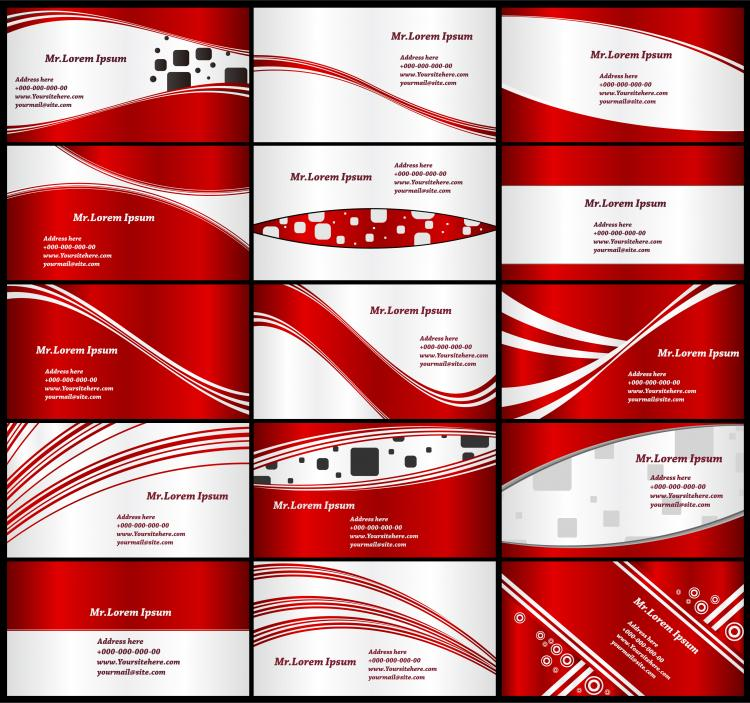 free vector Red card background vector
