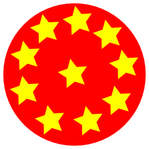 free vector Red Circle With Stars clip art