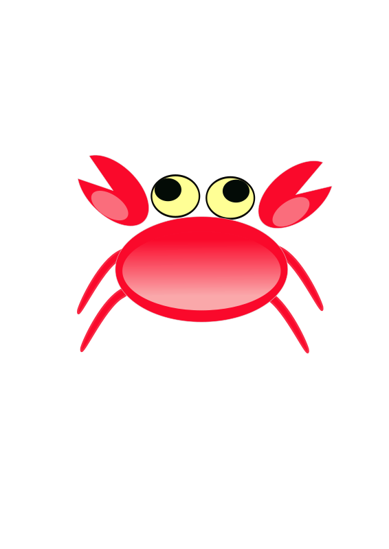 free vector Red crab