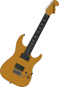 free vector Red Electric Guitar clip art