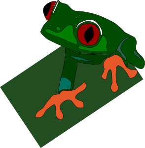 free vector Red-eye Frog clip art