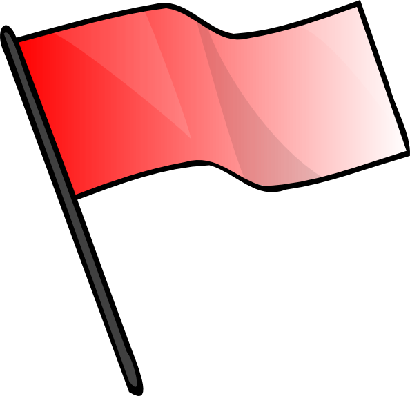 free vector Red Flag clip art