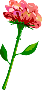free vector Red Flower clip art