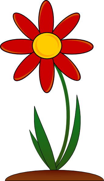 free vector Red Flower clip art
