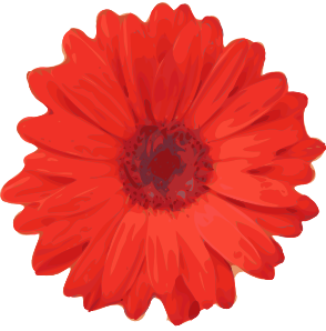 free vector Red Flower Pedals clip art