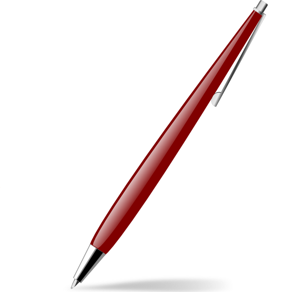 free vector Red Glossy Pen clip art