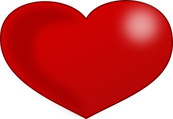 free vector Red Glossy Valentine Heart clip art