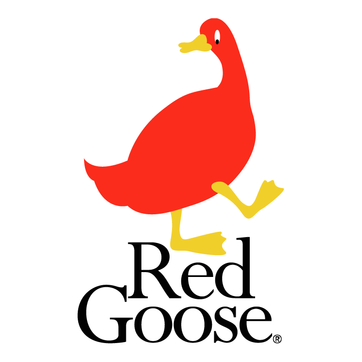free vector Red goose