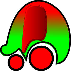 free vector Red Green Car Icon clip art