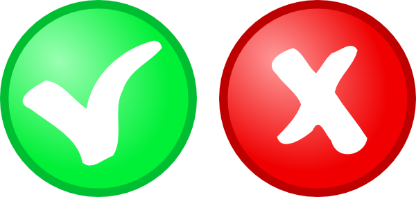 free vector Red Green Ok Not Ok Icons clip art
