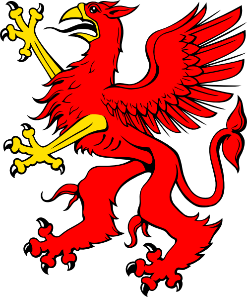 free vector Red Griffin clip art