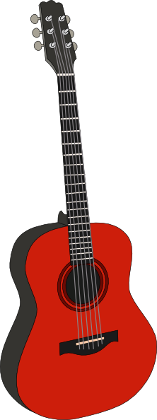 free vector Red Guitar clip art