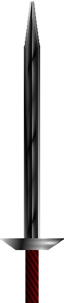 free vector Red Handled Logsword clip art