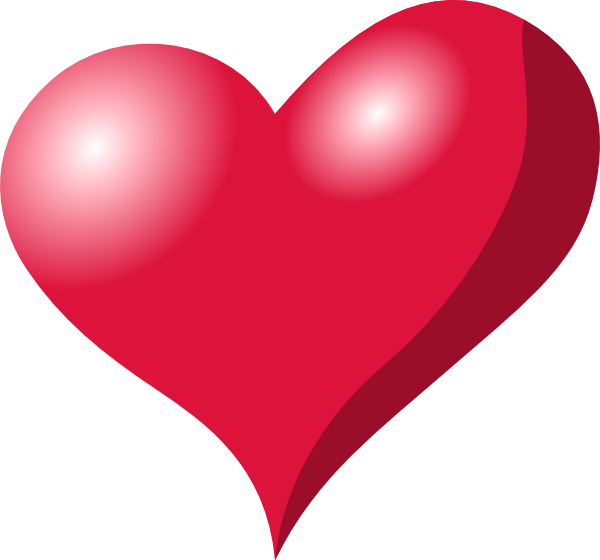 free vector Red Heart Shadow clip art