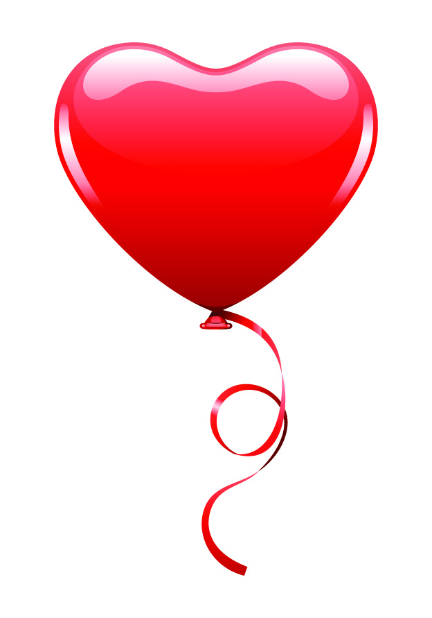 free vector Red hot air balloon vector