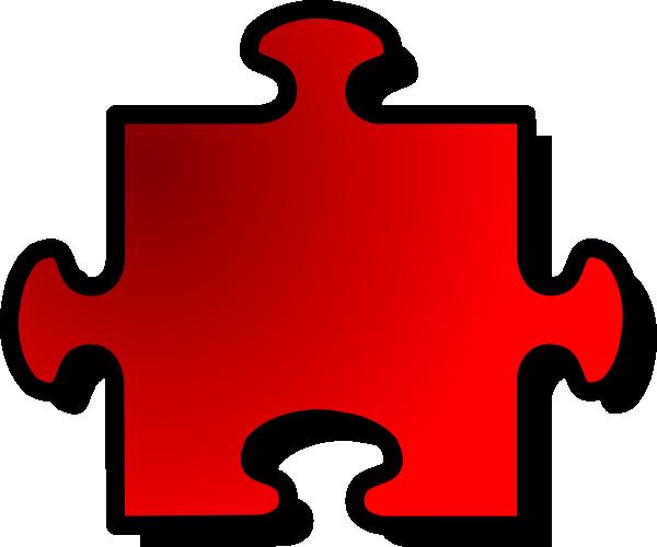 free vector Red Jigsaw Piece clip art 113498