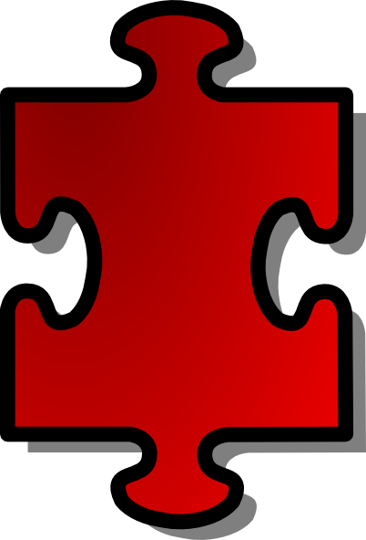 free vector Red Jigsaw Piece clip art