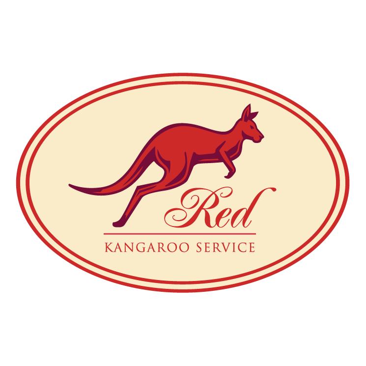 free vector Red kangaroo service