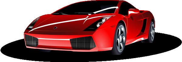 free vector Red Lamborghini clip art