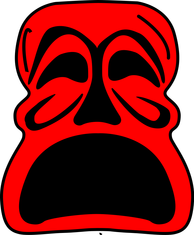 free vector Red Mask