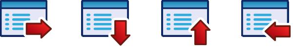 free vector Red Menu Icon Set clip art