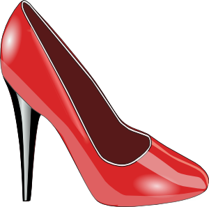free vector Red Patent Leather Shoe clip art