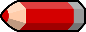 free vector Red Pencil clip art