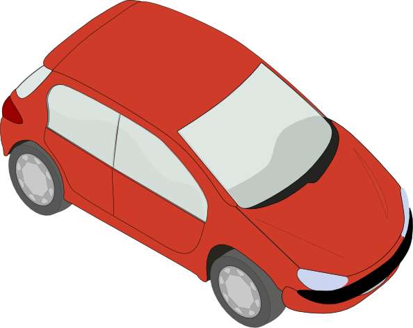 free vector Red Peugeot clip art