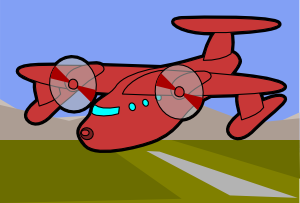 free vector Red Plane clip art