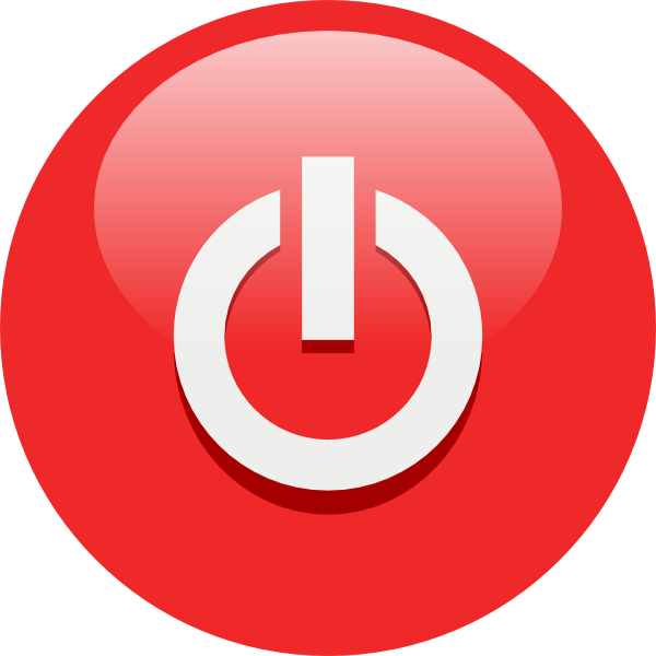 free vector Red Power Button clip art