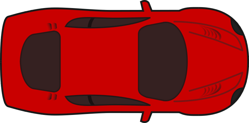 free vector Red racing car top view