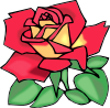 free vector Red Rose clip art