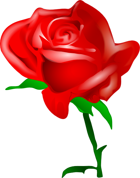 Red Rose Clip Art Free Vector 4vector