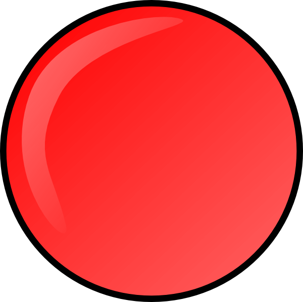 free vector Red Round Button clip art