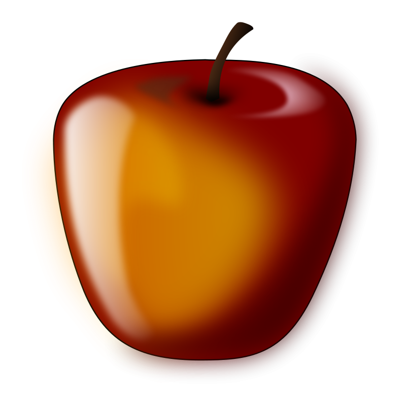 free vector Red shaded apple