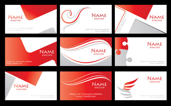 free vector Red simple card background vector