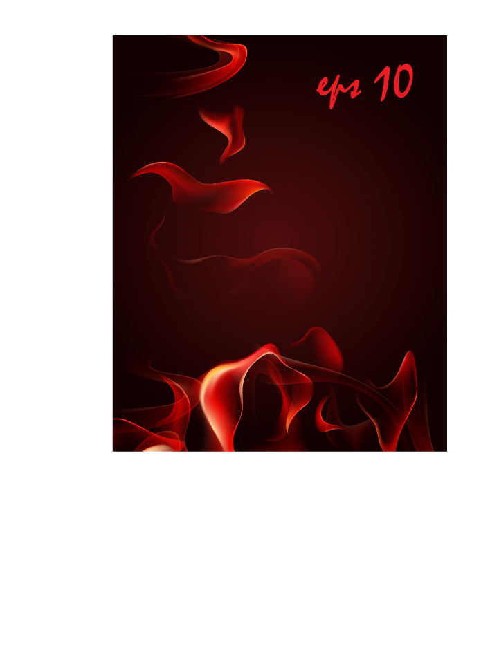 free vector Red smoke flame vector
