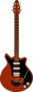 free vector Red Special Guitar clip art
